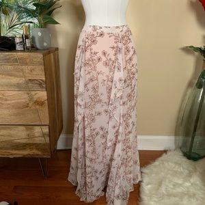 BCBG MaxAzria Silk Maxi Skirt